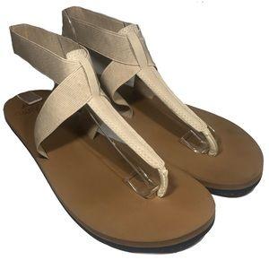 Reef Moon Cushion Tan Elastic Ankle Strap Sandals